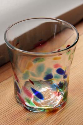 ニーウンペツ・ガラス美術研究所 タンブラーMixカラー透明