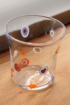ニーウンペツ・ガラス美術研究所 タンブラーミルフィオリ